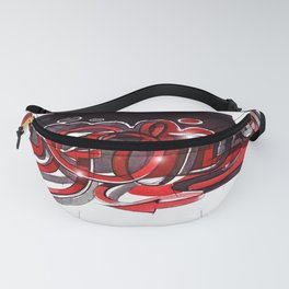 Graffiti red and black Fanny Pack