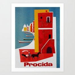 Vintage Procida Island Italy Art Print