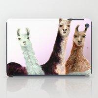 llama iPad Cases featuring Llama by Big AL