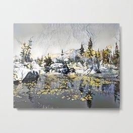 Autumn Lake Metal Print