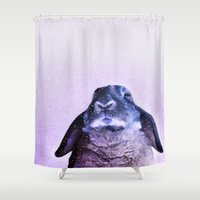 rabbit Shower Curtains featuring Rabbit by Asya Solo