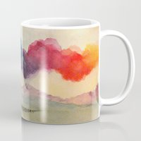 journey Mugs featuring Journey by Jen Hallbrown