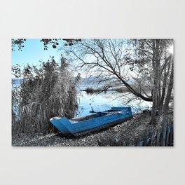 Blue boat Canvas Print