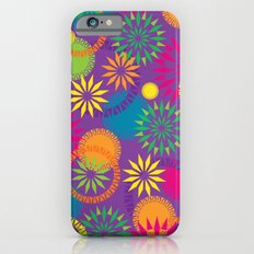 Spikeyflower Purple Slim Case iPhone 6s