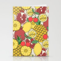 fruit Stationery Cards featuring Fruit by Valendji