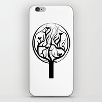 tree of life iPhone & iPod Skins featuring Life Tree by Frivolous Designs