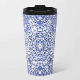 Baroque style mandala on grunge background Travel Mug