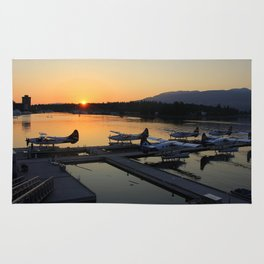 Vancouver Seaport Sunset Rug
