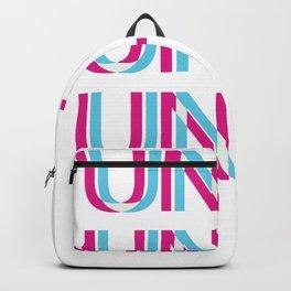 Techno Untz Utz Rave Trippy EDM Glitch Hadstyle Backpack