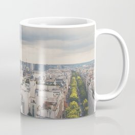 the Eiffel Tower in Paris on a stormy day. Coffee Mug