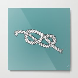 Sailors Knot Design Metal Print