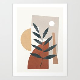 Shapes and Branches 04 Art Print