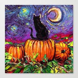 Starry Hallows' Eve Canvas Print