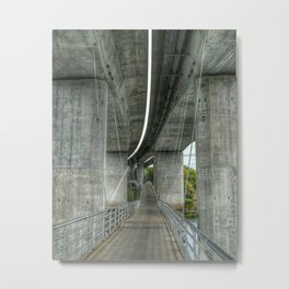 Suspension Bridge Metal Print