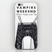 vampire weekend iPhone & iPod Skins featuring Vampire Weekend / George Washington Bridge by Harold's Visuals