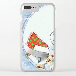 Cat in Snow Globe series 2 Clear iPhone Case