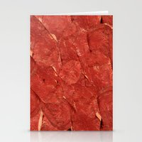 meat Stationery Cards featuring mEAT by Jevan Strudwick