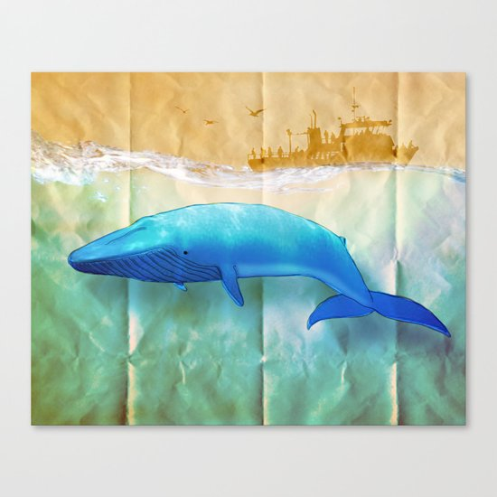 the beauty beneath _ humpback whale Canvas Print