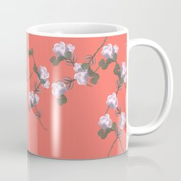 Roses Collage, Living-coral, floral, flowers, leaves, botanical, pattern, decor, art, society6 Coffee Mug
