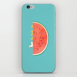 duckies and watermelon iPhone Skin