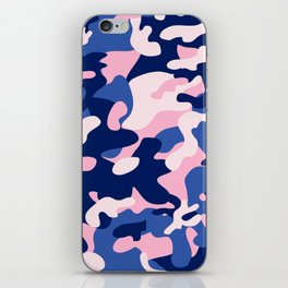 Blue Pink Camouflage iPhone Skin