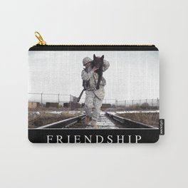 Friendship: Inspirational Quote and Motivational Poster Carry-All Pouch