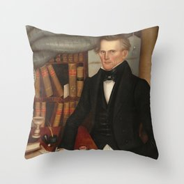 Vermont Lawyer Oil Painting by Horace Bundy Throw Pillow