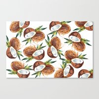 coconut wishes Canvas Prints featuring Coconut by Vale Bocchi