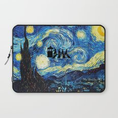 The Doctor Flying With Starry Night Laptop Sleeve
