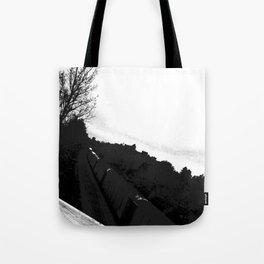 The Train//b&w Tote Bag