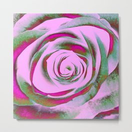 Solarized Rose Metal Print