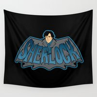 sherlock Wall Tapestries featuring Sherlock by Buby87