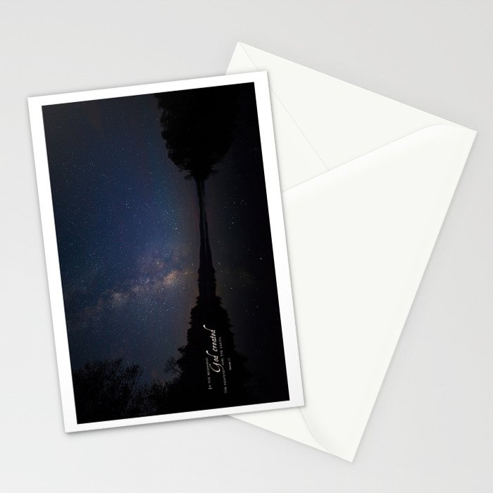 Milky Way over the Lake Stationery Cards