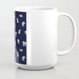 Indian Baby Elephants in Navy Coffee Mug