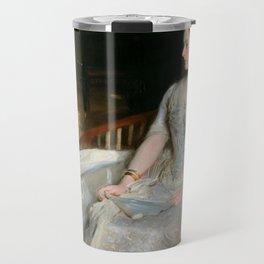 Portrait of Mrs. Cecil Wade by John Singer Sargent - Vintage Fine Art Oil Painting Travel Mug