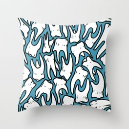 Full of Teeth II Throw Pillow