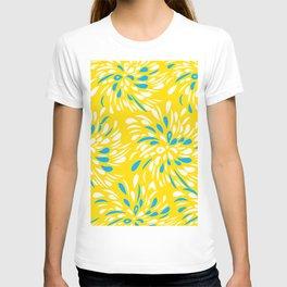 RAIN DROP TEAR DROP FLOWER SWIRLS T-shirt