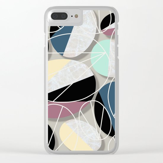 Stones and Outlines Clear iPhone Case