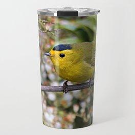 Cute Wilson's Warbler on the Grapevine Travel Mug