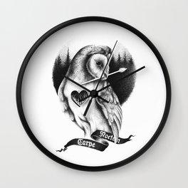 CARPE NOCTEM Wall Clock