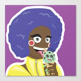 Ice Cream Girl Canvas Print