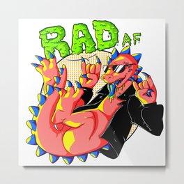 RAD AF Dinosaur Metal Print