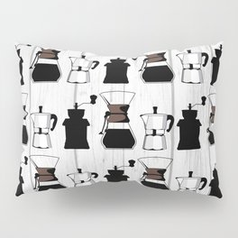 variety of classic, vintage, coffee,  grinder illustration Pattern print Pillow Sham