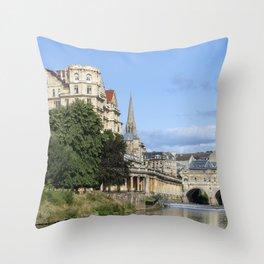 Poulteney bridge Bath 1 Throw Pillow