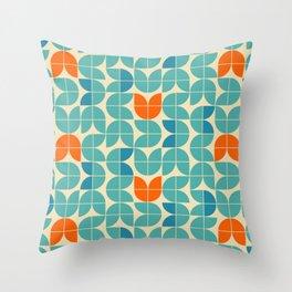 Mid Century Modern Scandinavian Tulips Throw Pillow