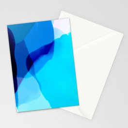 blue winter ice now abstract watercolor Stationery Cards