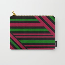 Geometric pattern. Striped triangles 4 Carry-All Pouch
