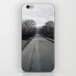 derbyshire country lane iPhone Skin