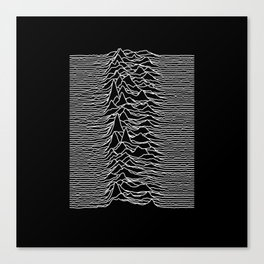 Joy Division - Unknown Pleasures Canvas Print