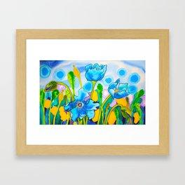 Blue Poppies 1 of Belize Framed Art Print